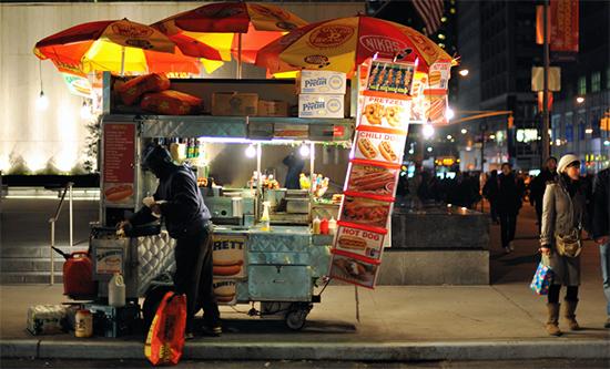 cart à Hot-Dof New-Yorkais. Photos: Jaroslavsvd