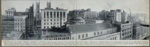 La ligne d'horizon de Montréal en 1912. Cliquez pour voir en grand.