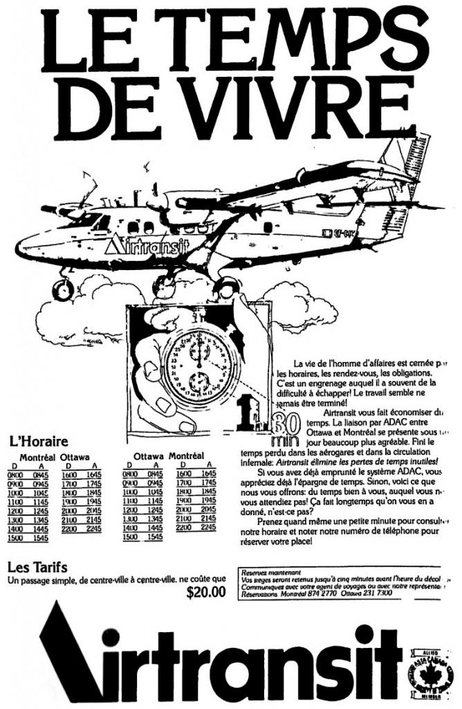 Publicité Air Transit.