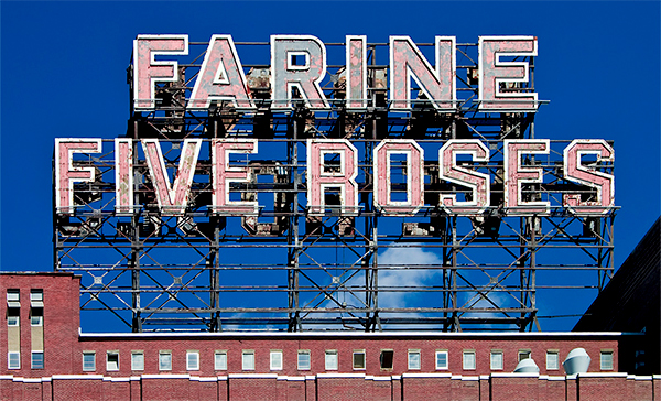 Échafaud Farine Five Roses avant ces rénovations. C.2007