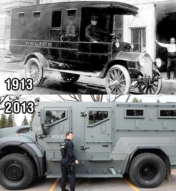 Le premier et le dernier véhicule du SPVM