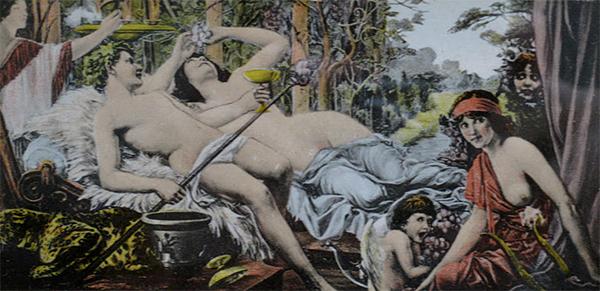 Murales du mariage de Bacchus et Arianne par Nincheri pour Venus Sweets Studios