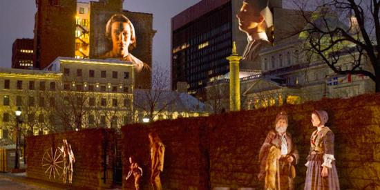 Projections Cité Mémoire de Montréal en Histoires