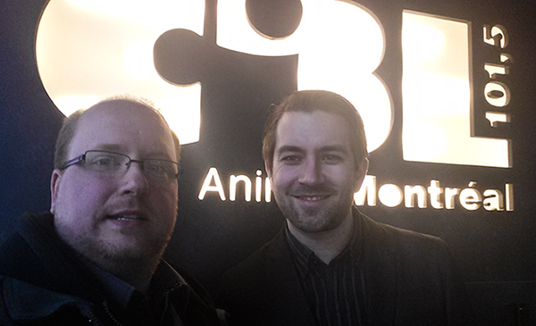 Blogueur Martin Bérubé de ProposMontréal et Félix Gravel d'Urbabillard