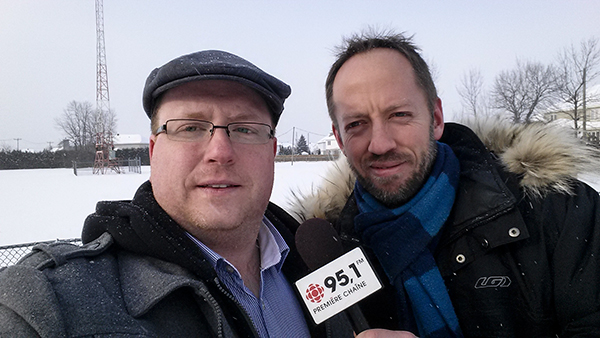 Selfie Radio-Canadien aec le journaliste Hugo Lavoie