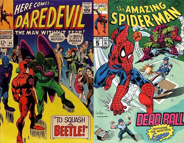 Daredevil et Spideran à Montréal.