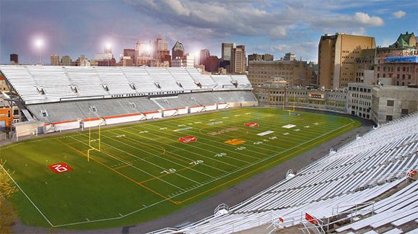 Le Stade suite à l'agrandissement.