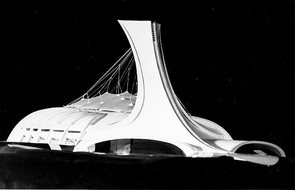 Maquette du Stade olympique dévoilé en 1972