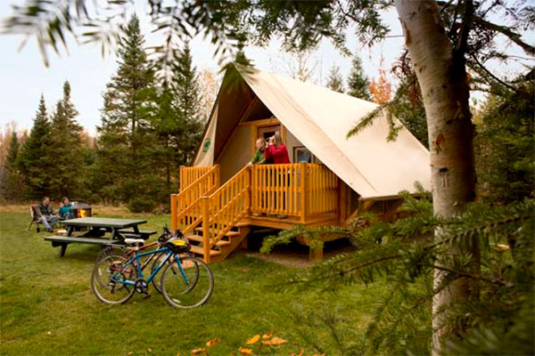 Les tentes de luxe Otentik de Parcs Canada