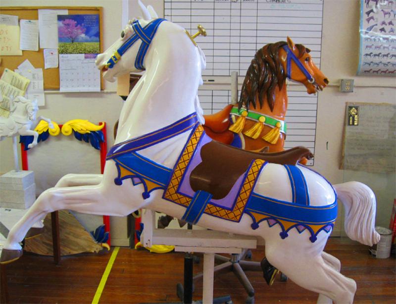 Les chevaux après la restauration