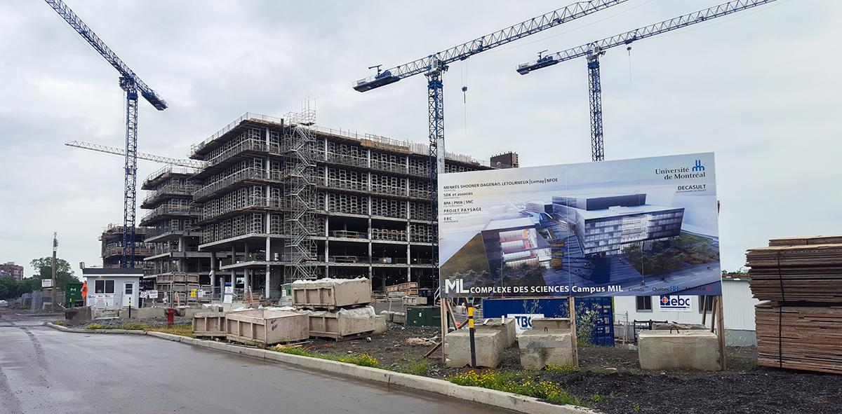 Le campus Outremont de l'U de M en construction