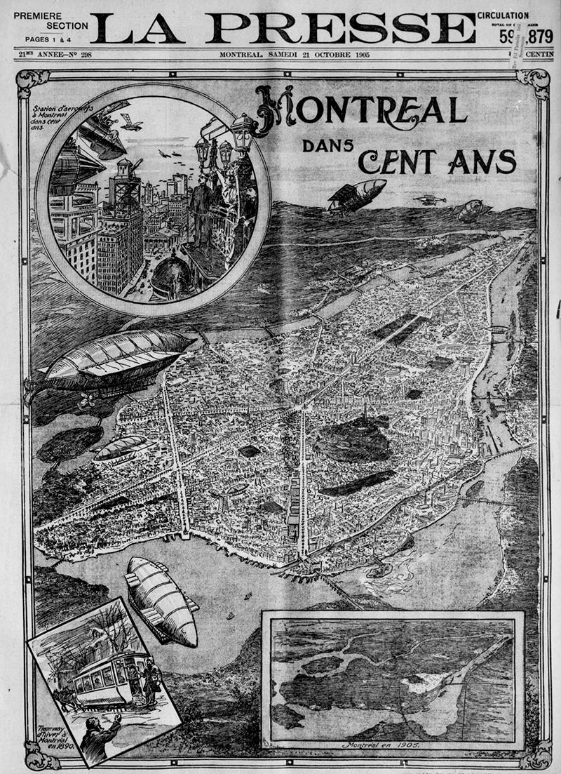 Première page du journal La Presse, 21 octobre 1905.