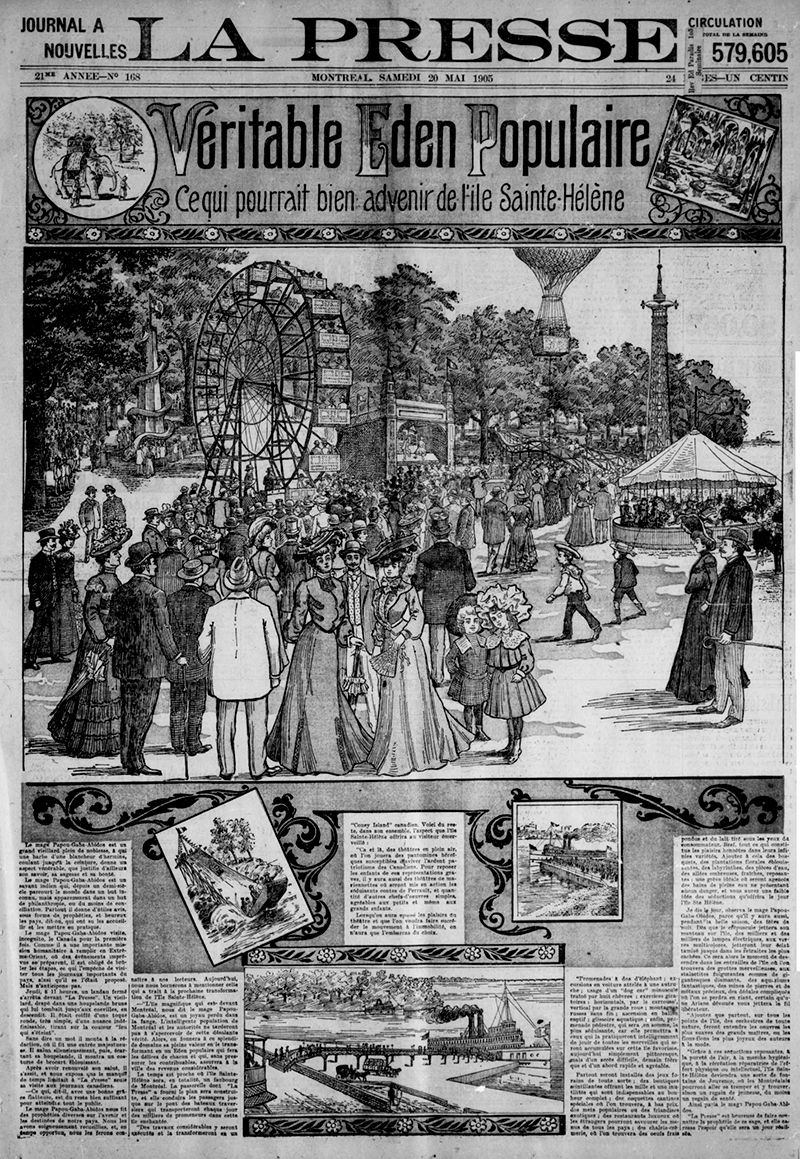 Première page du journal La Presse, 20 mai 1905.