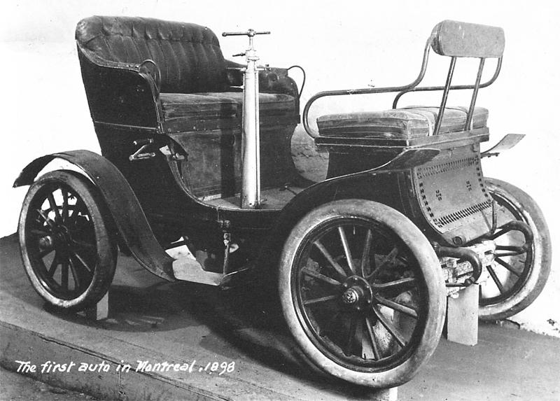 La première voiture d'Ucal-Henri Dandurand.