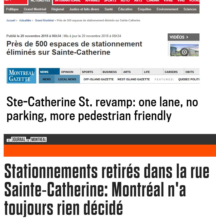 Les grand titres de La Presse, The Gazette et Journal de Montréal.