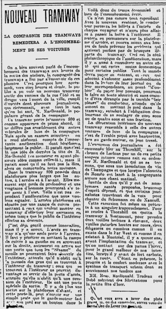 La Patrie, 5 mai 1905