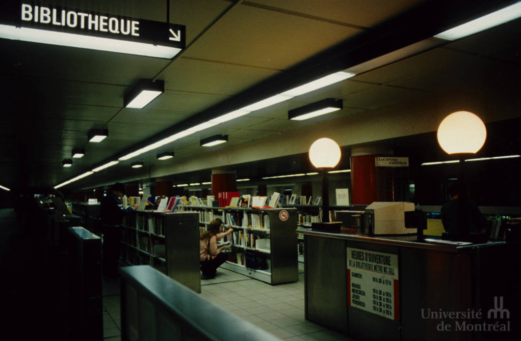 La bibliothèque, juste avant sa fermeture
