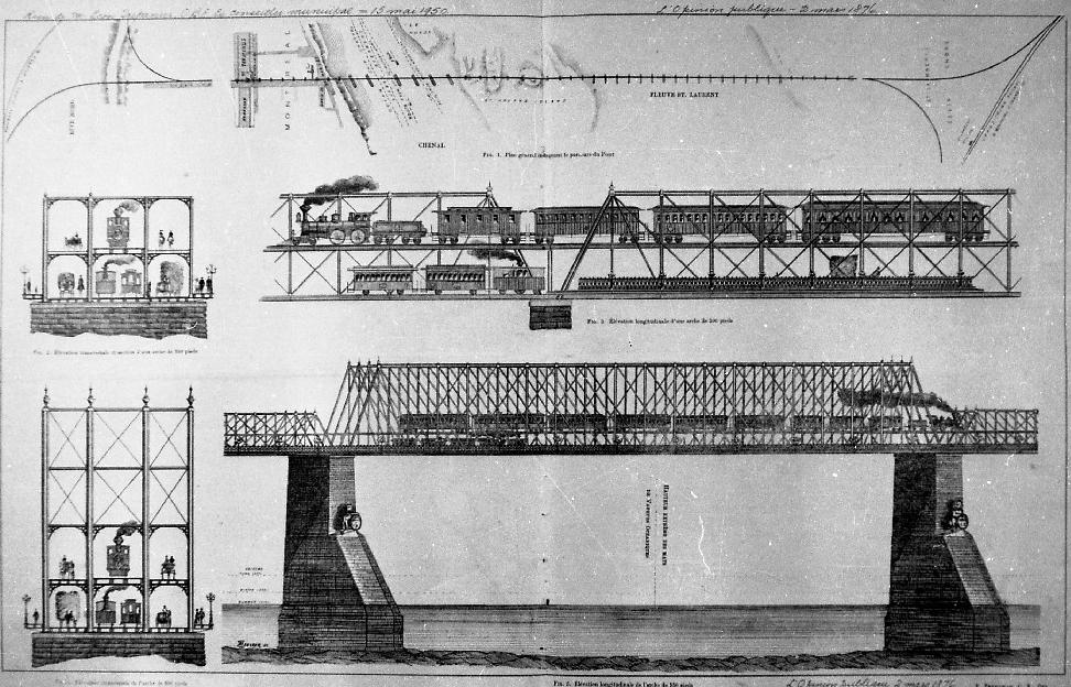 Représentation de la structure du pont