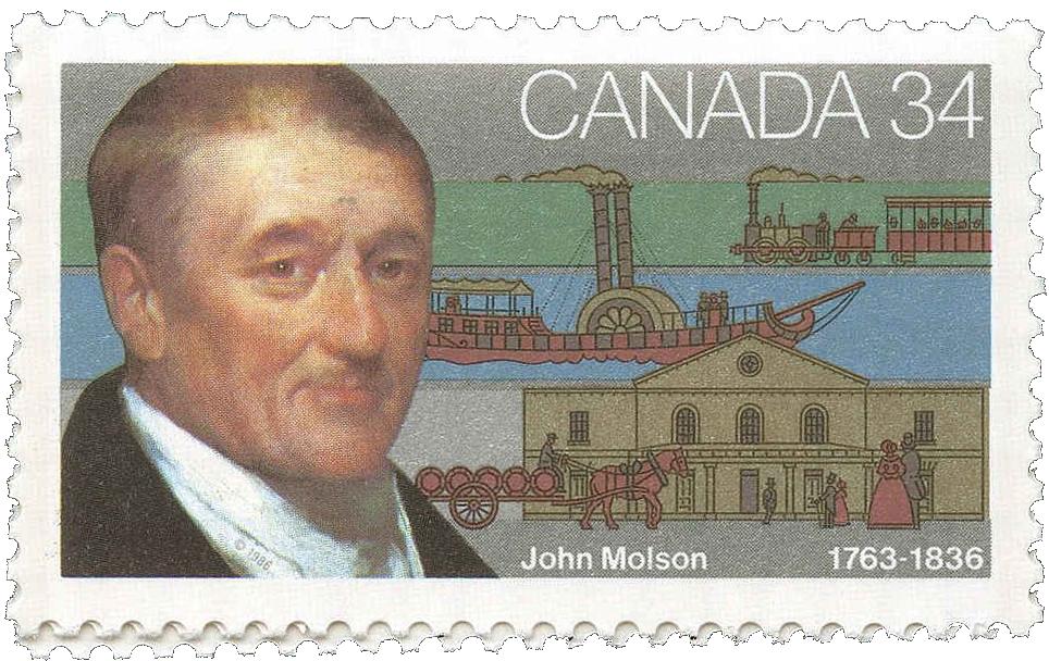 Timbre 1986 de John Molson