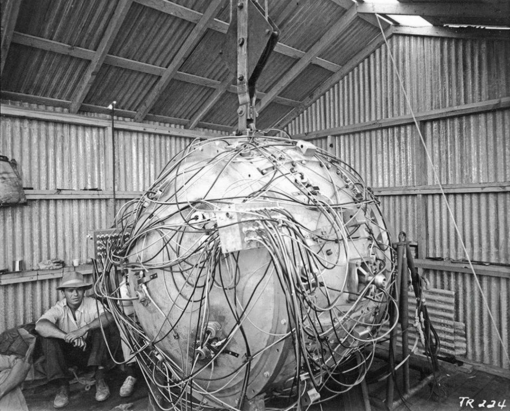 La première bombe nucléaire, 1945