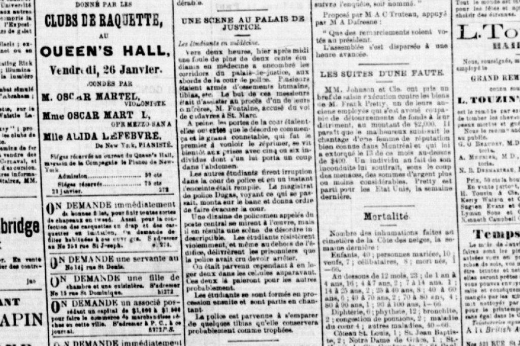 Texte paru dans la Patrie du 24 janvier 1883.