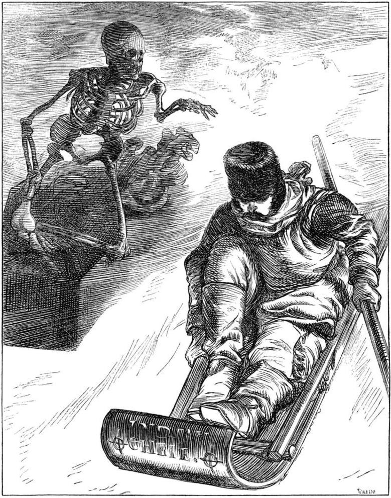 Illustration de Charles Keane pour le texte «Nips Daimon» de C.E. Bockus