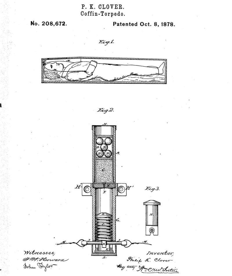 un système de protection de cercueil à base de poudre à canon