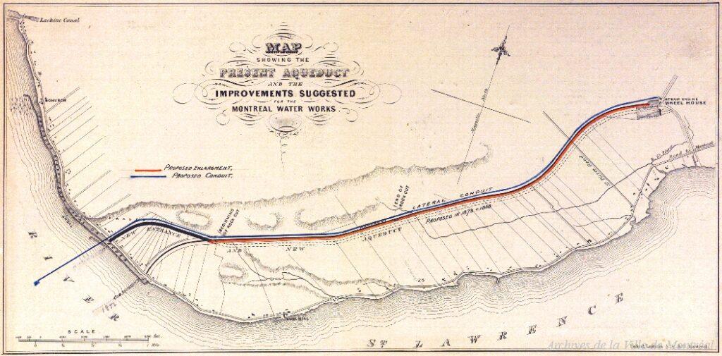 Plans de l'aqueduc corrigés de 1910