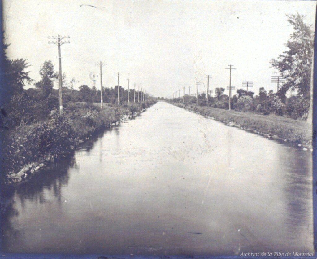 L'aqueduc original en 1906