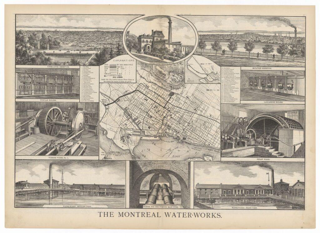 Plan de l'aqueduc projeté par Keefer