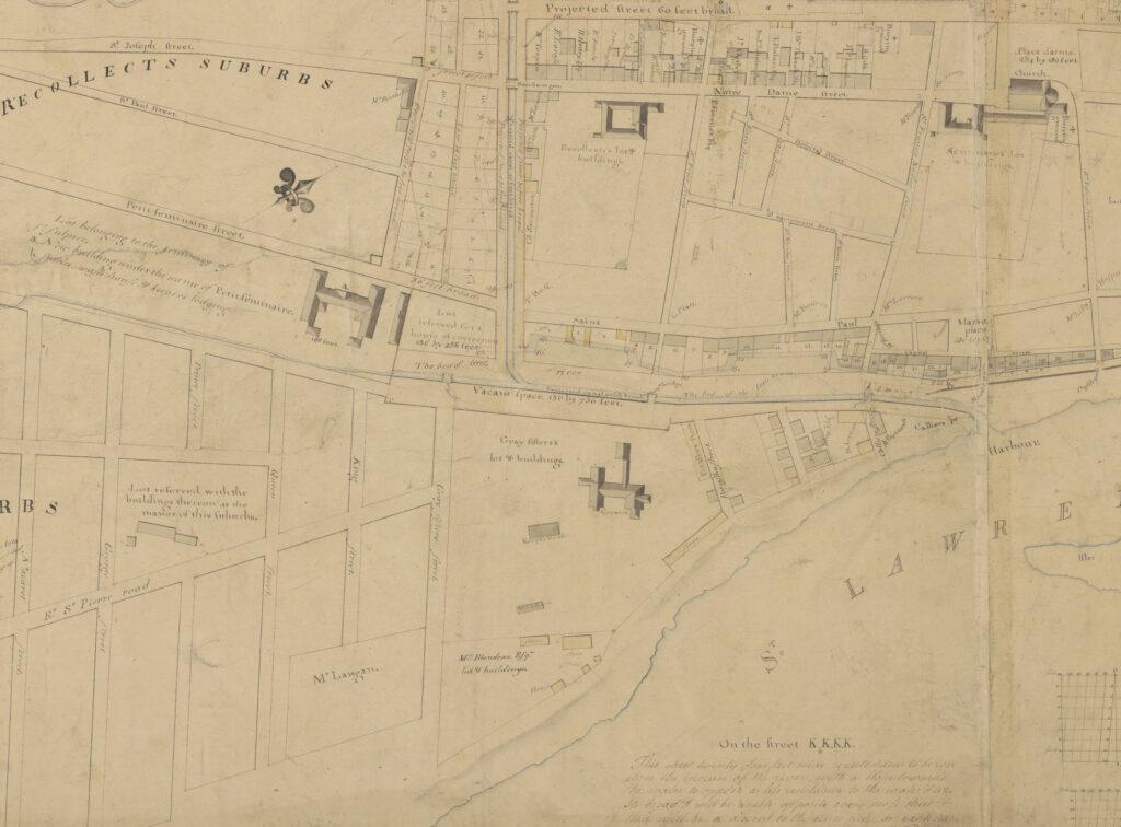 Carte du vieux-Montréal