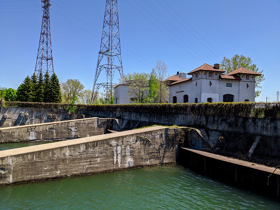 Amont de l'aqueduc à LaSalle