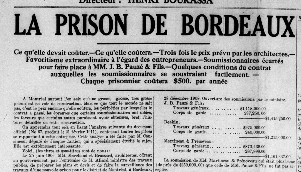 Le Devoir, 8 avril 1911