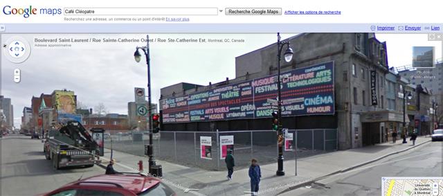 Google Streetview à Montréal