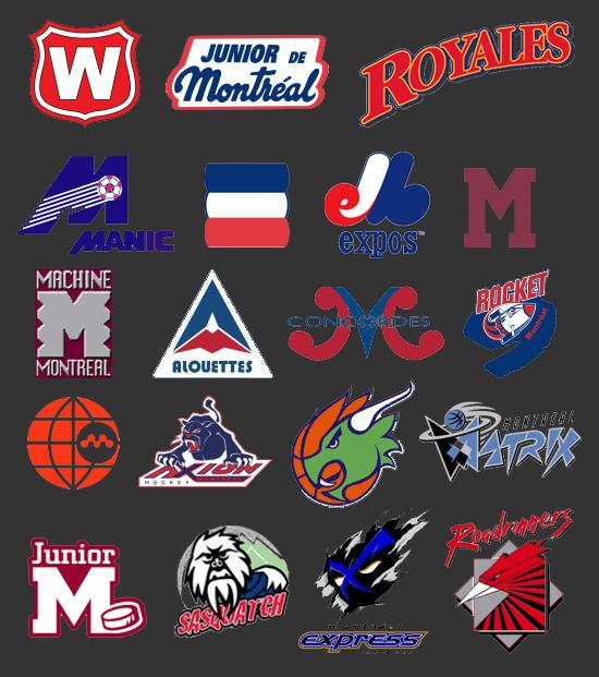 Logos des équipes de sport disparues