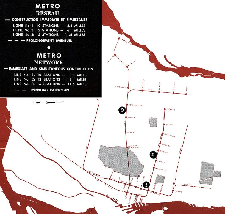 Plan Original du Métro