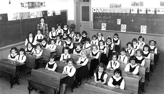 Classe de première année, 1952