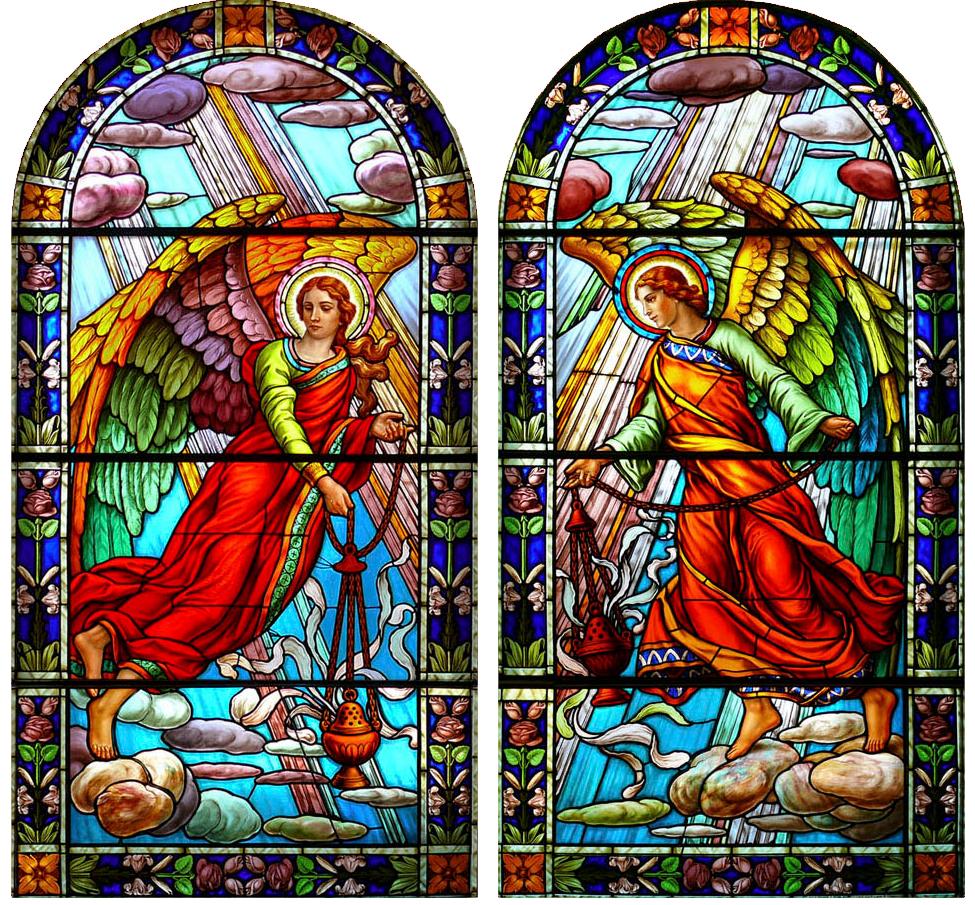 Vitrail: Église Notre-Dame-de-Grâce.