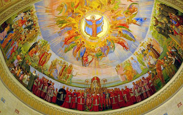 Fresque de l'Église Notre-Dame-de-la-Défense. Cliquer pour voir en plus grand