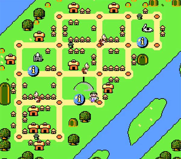 Carte de Mario is Missing à Montréal.