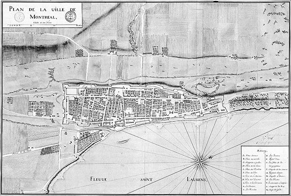 Cliquer sur la carte pour voir une version plus grande. Plan de la ville, 1731.