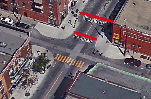Les nouveaux trottoirs de la Promenade Ontario. Un exemple de