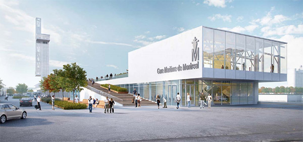 Jetée Alexandra, un des projets dévoilés lors du Forum Stratégique de la Chambre de Commerce du Montréal Métropolitain.