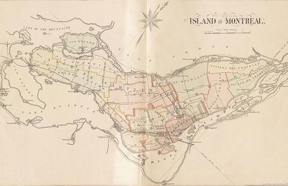 Carte de Montréal 1879.