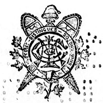 """Logo du Club de Raquettes """"Le Canadien"""" de Montréal."""