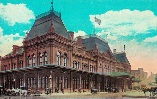 La défunte Gare Bonaventure où se trouve la Place Bonaventure aujourd'hui.