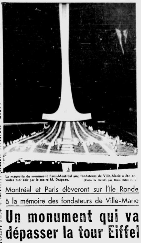 Titre du quotidien Le Devoir  du 11 décembre 1964.