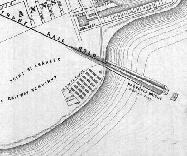Plan projeté pour le nouveau pont Victoria.