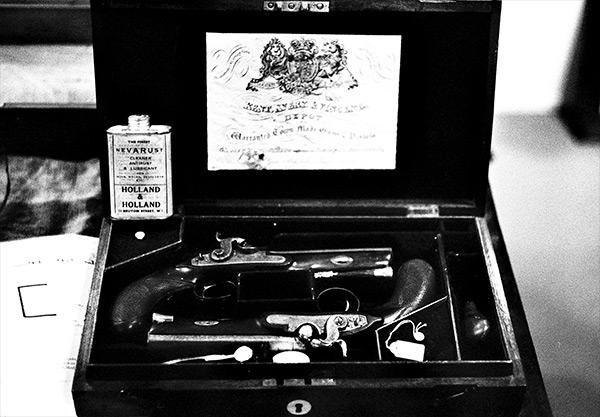 Ensemble de pistolets de duel britannique