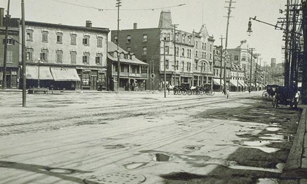 Le square Chaboillez en 1910